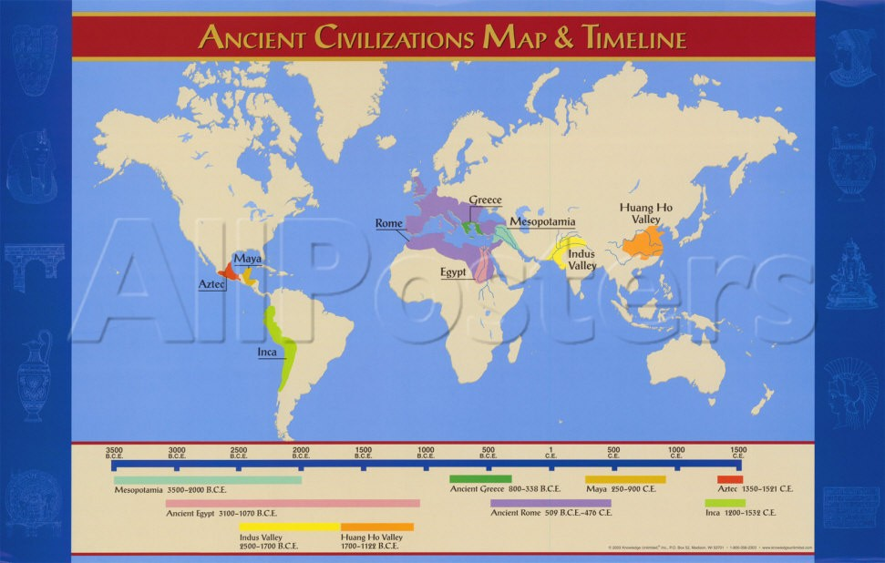 picture relating to Ancient Civilizations Timeline Printable titled Historical Civilization Timelines the24hourtala