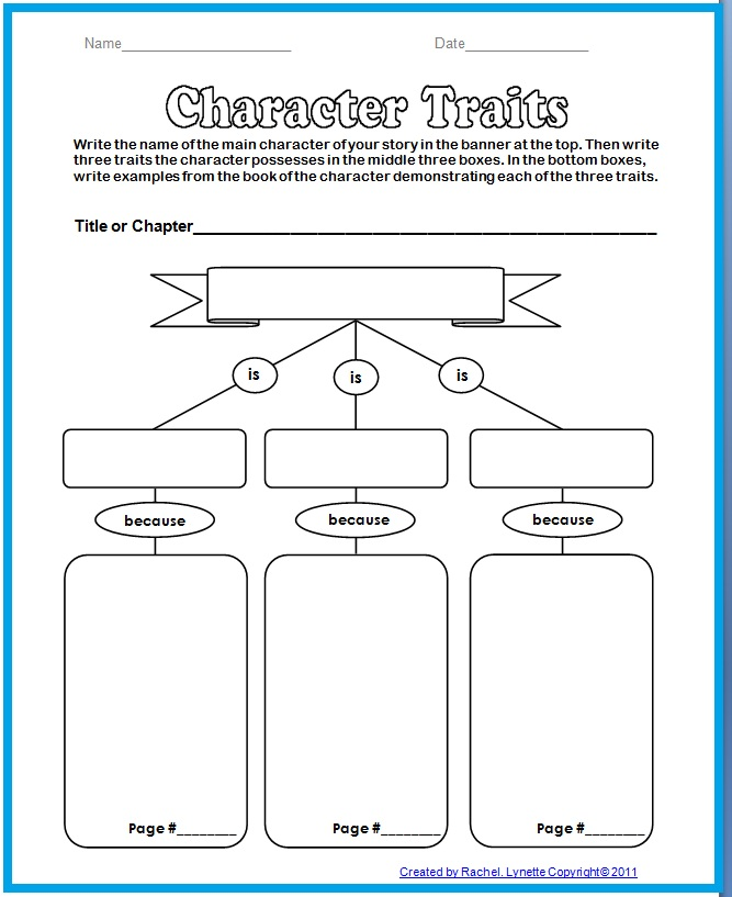 Character Traits Worksheets Middle School